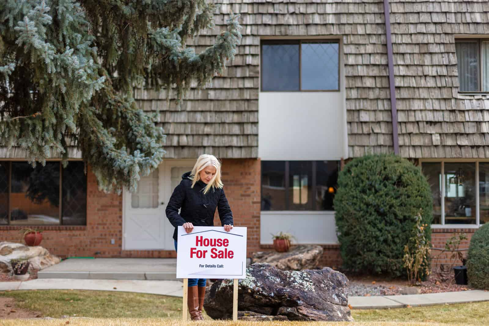 Female In Residential Townhome Area Home for Sale in America
