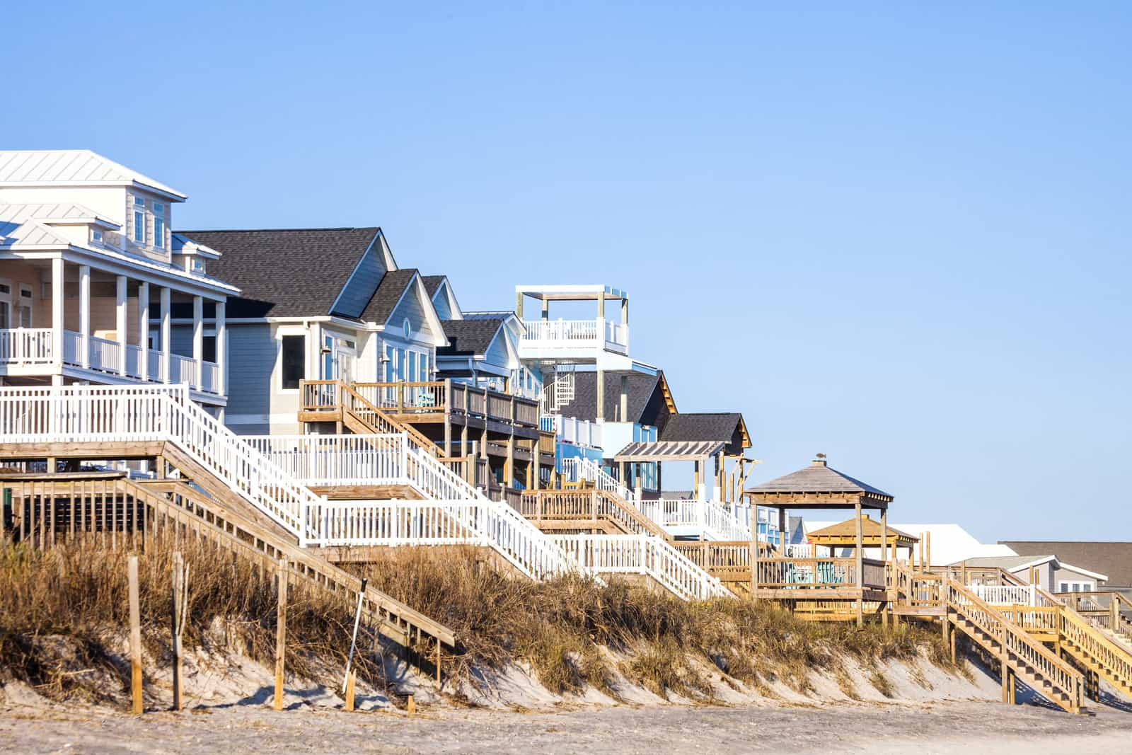 Waterfront homes, Surf City.