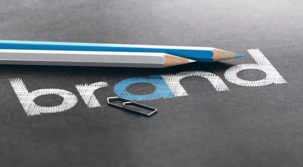 brand written in pencil