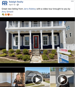 raleigh realty facebook post